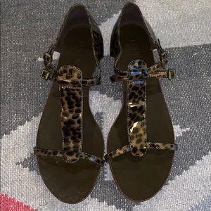 J. Crew Tortoiseshell Sandals - Size 9